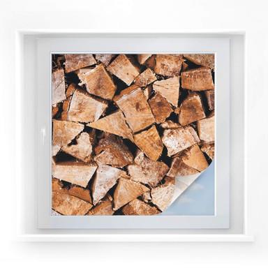 Sichtschutzfolie Holz - quadratisch