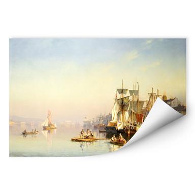 Wallprint Neumann - Fischerboote und Kähne auf der Themse bei Greenwich