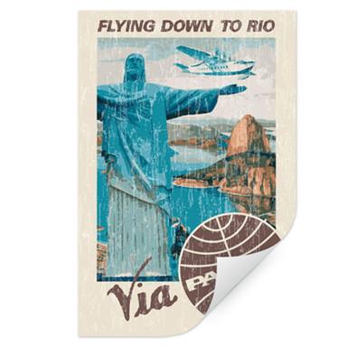Wallprint PAN AM - Rio - Cristo Redentor am Zuckerberg