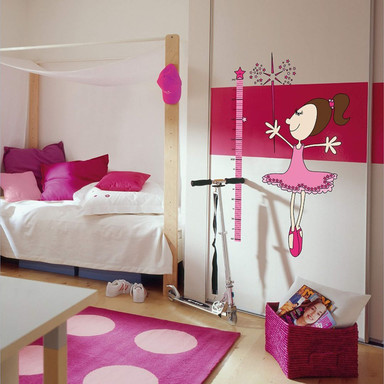 Wandsticker Kinder Messlatte für Mädchen - Bild 1