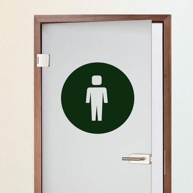 Wandtattoo Emoji WC Herren