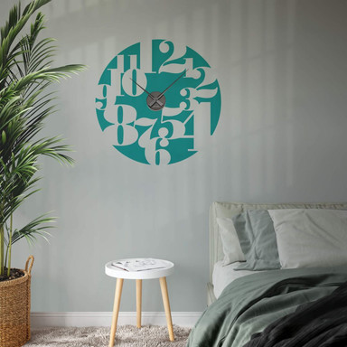 Wandtattoo + Uhr Typographie negativ Wanduhr