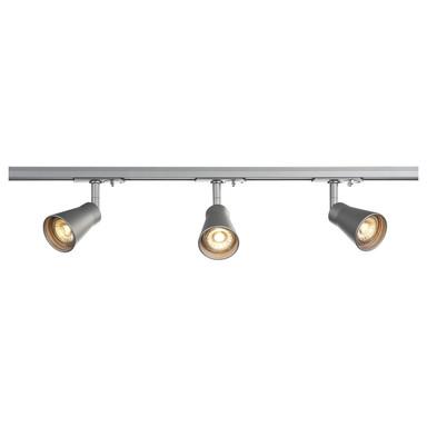 1-Phasen-Stromschienen Komplettset Avo Track in Silber 3x 5.5W 400lm GU10 2m