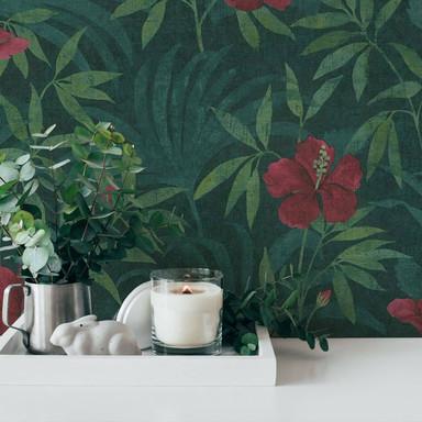 A.S. Création Vliestapete Cuba Blumentapete floral grün, rot