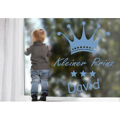 Glasdekor Wunschtext Prinz