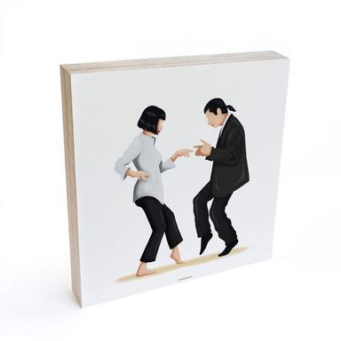 Holzbild zum Hinstellen - Tohmé - Pulp Fiction - 15x15cm