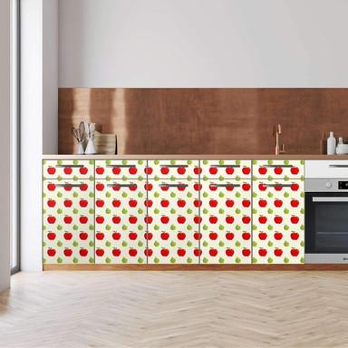 Küchenfolie - Unterschrank 200cm Breite - An apple a day