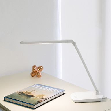 Moderne Schreibtischleuchte Anouk in weiss