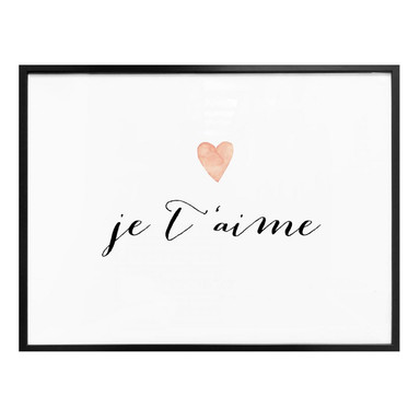Poster Confetti & Cream - Je t'aime