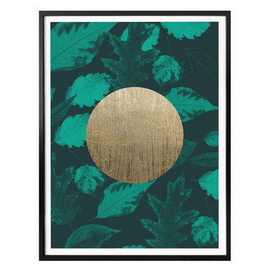 Poster Hariri - Gold Moon Green