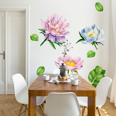 Wandtattoo - XXL-Bunte Blumenvielfalt - Set