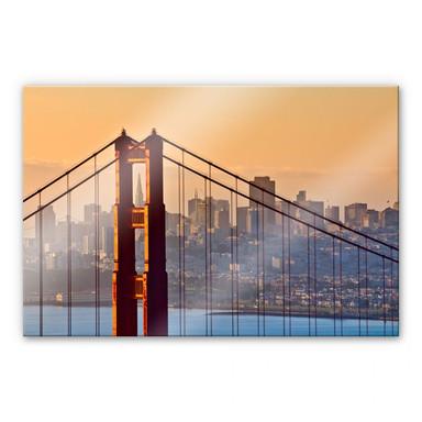 Acrylglasbild Sundown over San Francisco