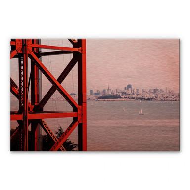 Alu-Dibond-Kupfereffekt - Vor den Toren von San Francisco