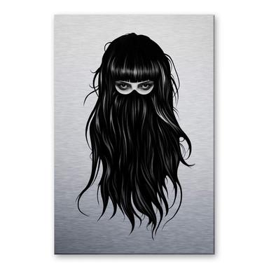 Alu-Dibond-Silbereffekt Ireland - It-Girl