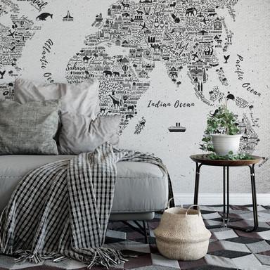 Fototapete Weltkarte - Around the world - 384x260cm - Bild 1
