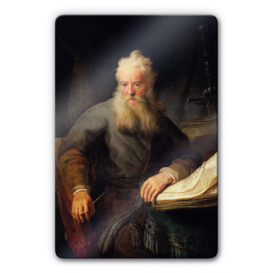 Glasbild Rembrandt - Apostel Paulus