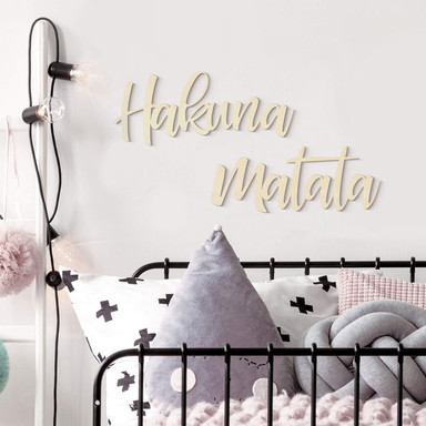 Holzbuchstaben Pappel Hakuna Matata (2-teilig)