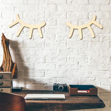 Holzkunst Pappel - Wimpern - 16x15cm - Bild 1