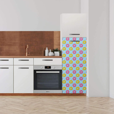 Klebefolie - Hochschrank (60x140cm) - Donutparty- Bild 1