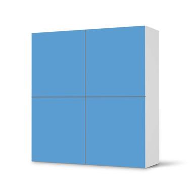 Klebefolie IKEA Besta Schrank 4 Türen - Blau Light- Bild 1