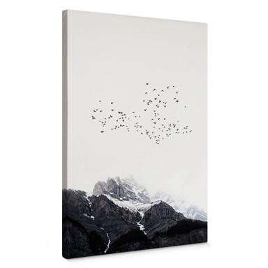 Leinwandbild Kubistika - Hoch in den Bergen