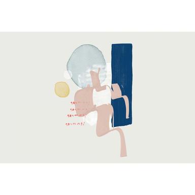 Livingwalls Fototapete ARTist Wish mit Aquarell Zeichnung blau, creme, gelb, grün, rot - Bild 1