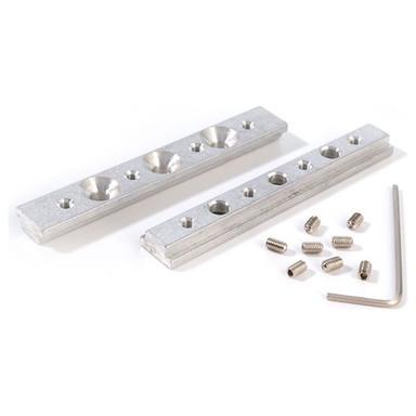 Reprofil, Universal Nutenstein / Längsverbinder Set 2 Stk, Aluminium, Länge: 80 mm