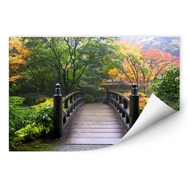 Wallprint Brücke im Grünen