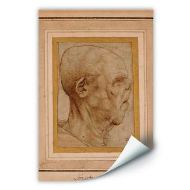 Wallprint Da Vinci - Karrikatur eines Männerkopfes