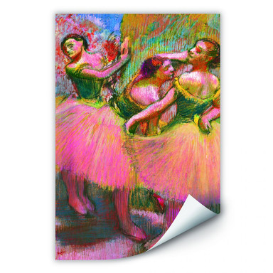 Wallprint Degas - Drei Tänzerinnen mit grünen Korsagen