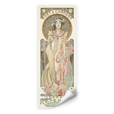 Wallprint Mucha - Moët and Chandon: Dry Imperial - Panorama