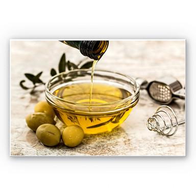 Wandbild Olivenöl