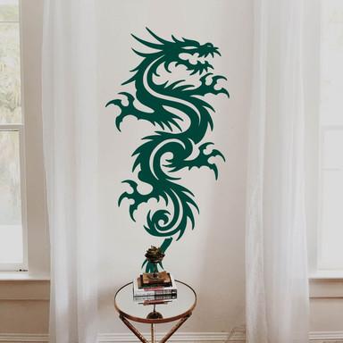 Wandsticker Miami Ink Chinesischer Drachen