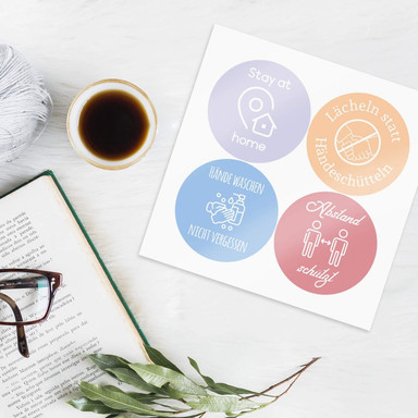 Wandtattoo Corona Sticker-Set