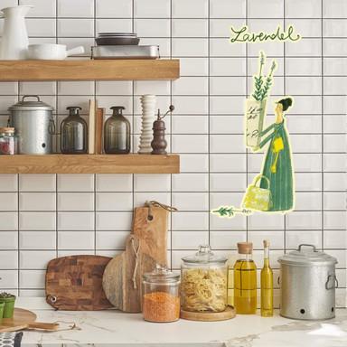 Wandtattoo Leffler - Kräuterfrau Lavendel