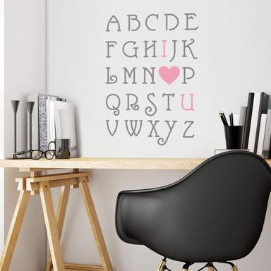 Wandtattoo Love Alphabet (2-farbig)