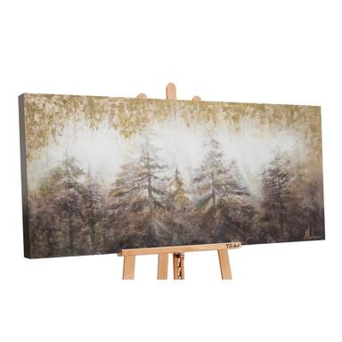 Acryl Gemälde handgemalt Morgen's im Wald 140x70cm