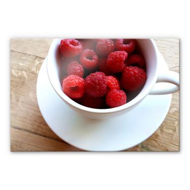 Acrylglasbild Himbeer-Dessert