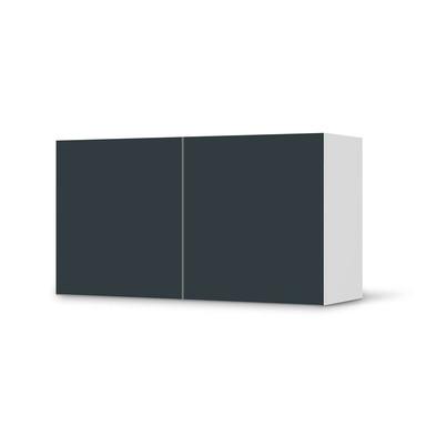 Folie IKEA Besta Regal 2 Türen (quer) - Blaugrau Dark