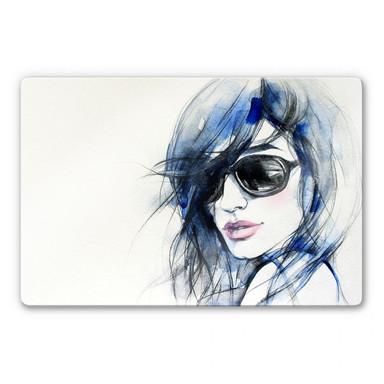 Glasbild I wear my sunglasses