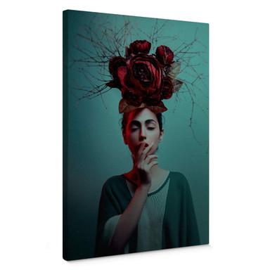 Leinwandbild Amin - Blumen im Haar