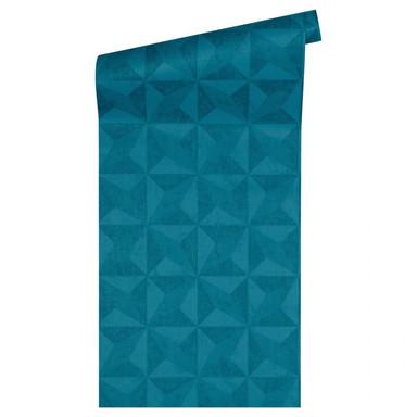 Livingwalls Tapete Titanium 2 blau