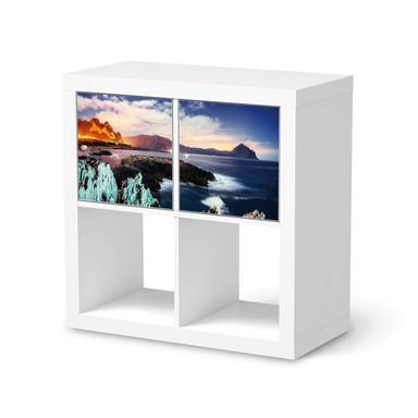 Möbelfolie IKEA Kallax Regal 2 Türen (quer) - Seaside