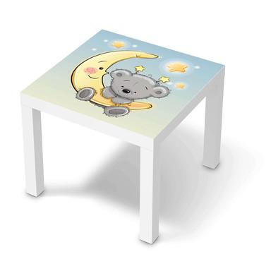 Möbelfolie IKEA Lack Tisch 55x55cm - Teddy und Mond