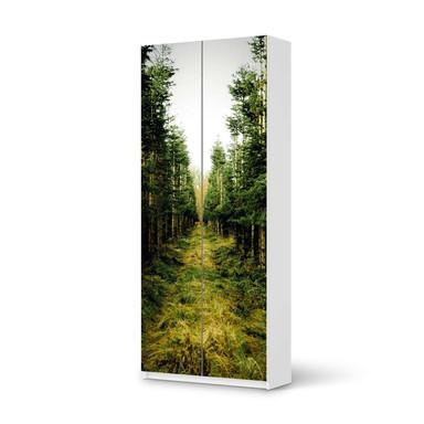 Möbelfolie IKEA Pax Schrank 236cm Höhe - 2 Türen - Green Alley