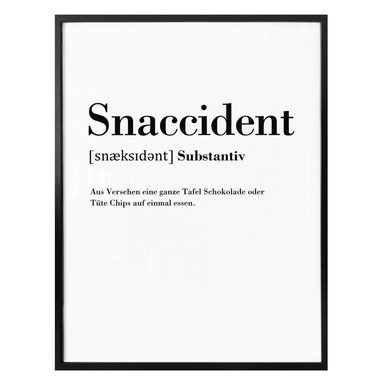Poster Grammatik - Snaccident