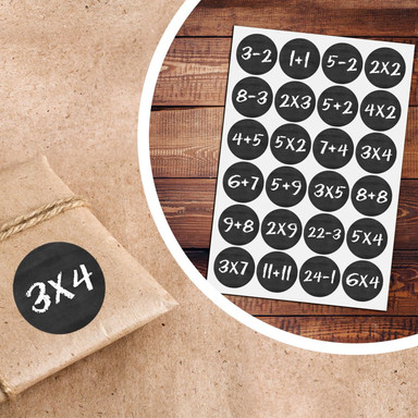 Sticker Adventskalender Mathe