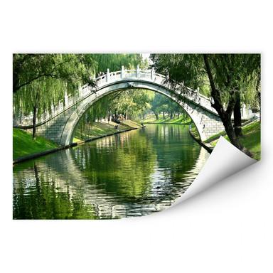 Wallprint Brücke am Fluss