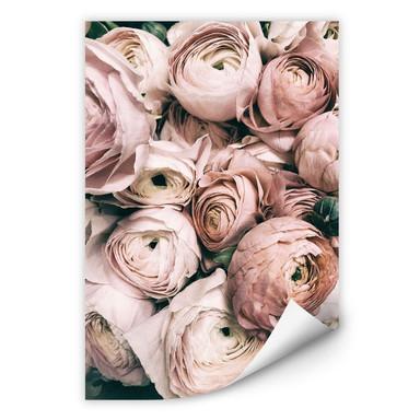 Wallprint Vintage Blumenstrauss