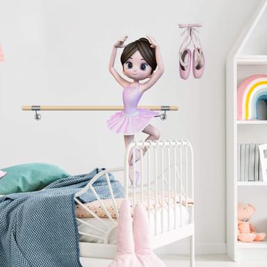 Wandtattoo Agullo - Ballerina & Ballettschuhe